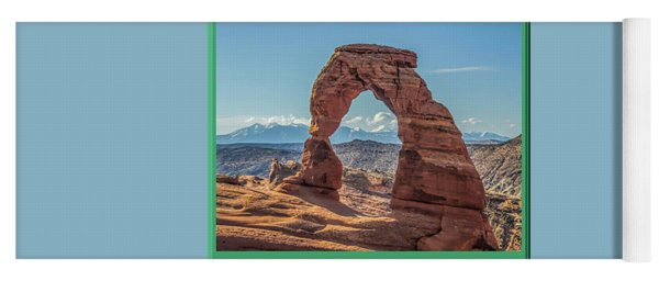Arches National Park Logo Yoga Mat