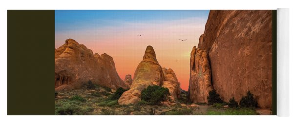 Arches National Park Sunset Yoga Mat