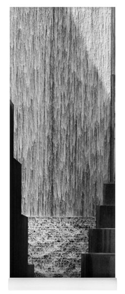 Architectural Waterfall In Black And White Yoga Mat