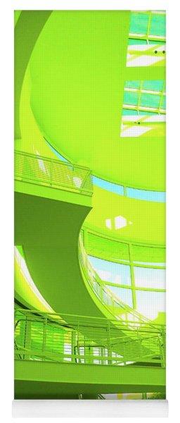 Green Splash Architecture Yoga Mat