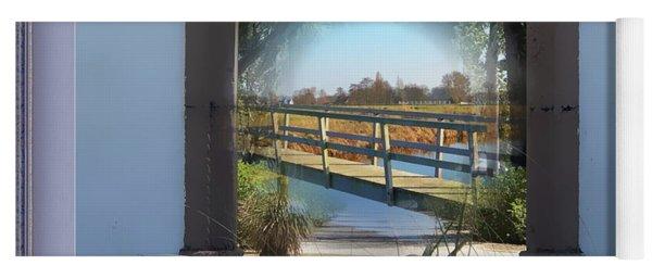 Archway To Wooden Bridge Montage Yoga Mat