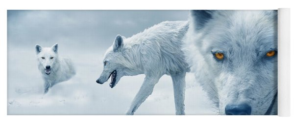 Arctic Wolves Yoga Mat