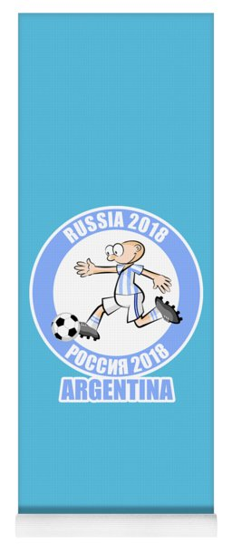 Argentina In The Soccer World Cup Russia 2018 Yoga Mat