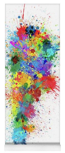 Argentina Paint Splashes Map Yoga Mat