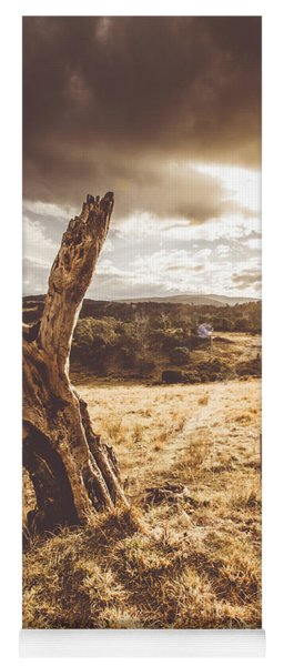 Arid Tasmania Bush Landscape Yoga Mat