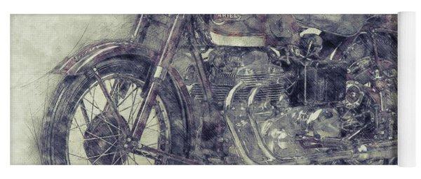 Ariel Square Four 1 - 1931 - Vintage Motorcycle Poster - Automotive Art Yoga Mat