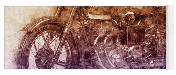 Ariel Square Four 2 - 1931 - Vintage Motorcycle Poster - Automotive Art Yoga Mat