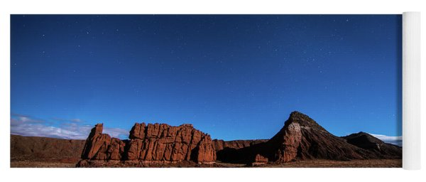 Yoga Mat featuring the photograph Arizona Landscape At Night by Todd Aaron
