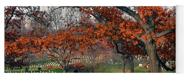 Arlington Cemetery In Fall Yoga Mat