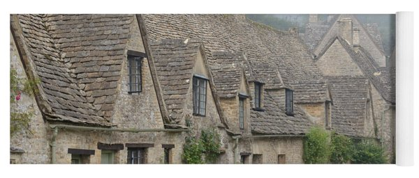 Arlington Row, Bibury In The Morning Fog Yoga Mat
