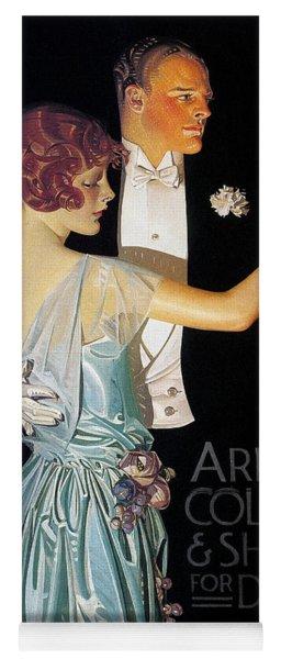 Arrow Shirt Collar Ad, 1923 Yoga Mat