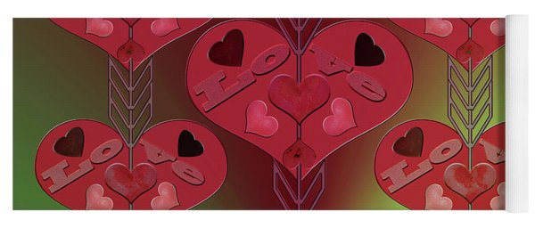 Yoga Mat featuring the photograph Arrows Shooting Love Hearts by Rockin Docks Deluxephotos