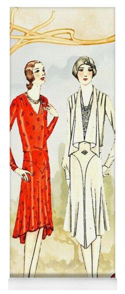 Art Deco Fashion Girls Yoga Mat