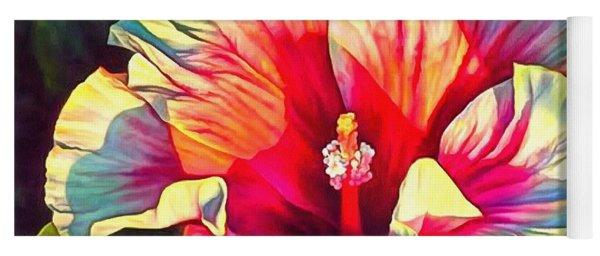 Art Floral Interior Design On Canvas Yoga Mat