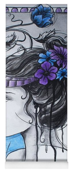 Art Nouveau Girl 1 Yoga Mat