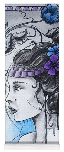 Art Nouveau Girl 1 Yoga Mat