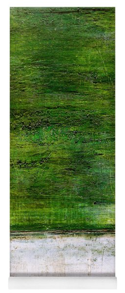 Art Print Green White Yoga Mat