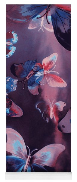 Artistic Colorful Butterfly Design Yoga Mat