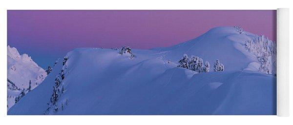 Artists Point Dusk Snowscape Yoga Mat