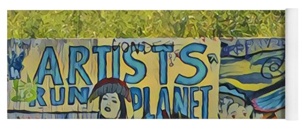 Artists Run The Planet Yoga Mat