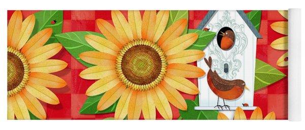 Sunflower Surprise Yoga Mat