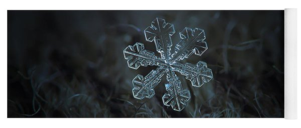 Yoga Mat featuring the photograph Snowflake Photo - Vega by Alexey Kljatov