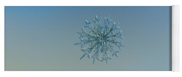 Yoga Mat featuring the photograph Snowflake Photo - Twelve Months by Alexey Kljatov