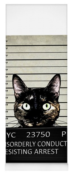 Kitty Mugshot Yoga Mat