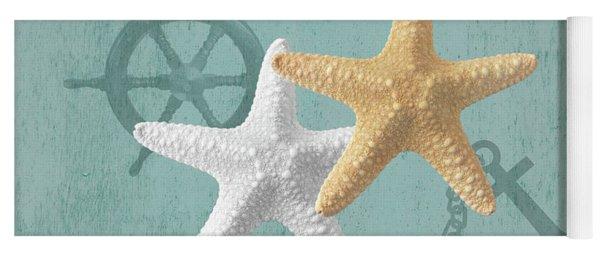 Nautical Stars Yoga Mat