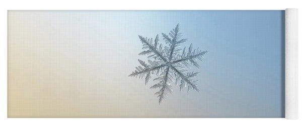 Snowflake Photo - Silverware Yoga Mat