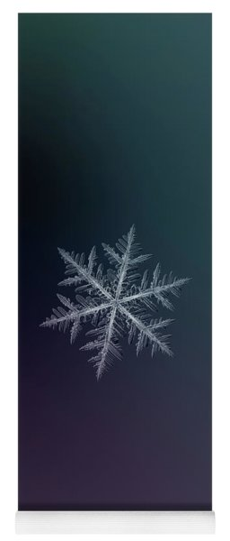 Yoga Mat featuring the photograph Snowflake Photo - Neon by Alexey Kljatov