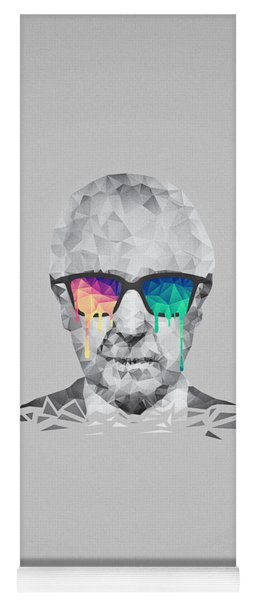 Albert Hofmann - Psychedelic Polygon Crystalised Portrait Yoga Mat