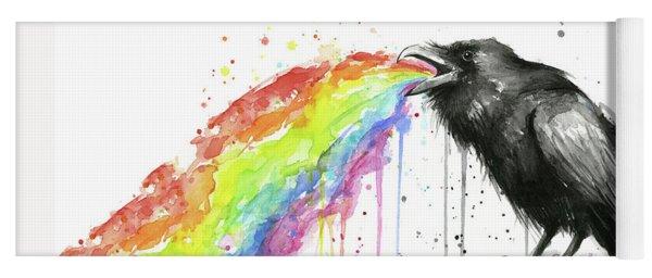 Raven Tastes The Rainbow Yoga Mat