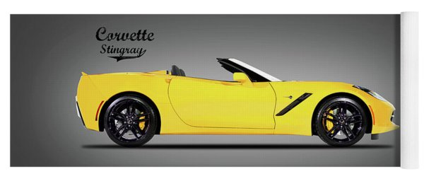 Corvette In Yellow Yoga Mat