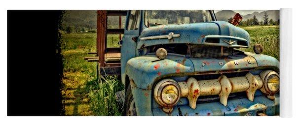 The Blue Classic Ford Truck Yoga Mat