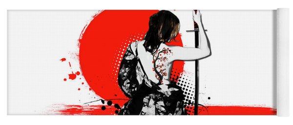Trash Polka - Female Samurai Yoga Mat