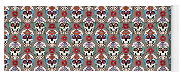 Sugar Skulls Pattern 2 Yoga Mat