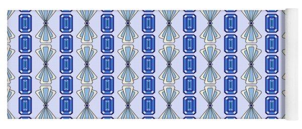 Sapphire Deco Stripe Yoga Mat