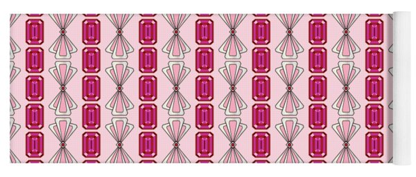 Ruby  Deco Stripe Yoga Mat