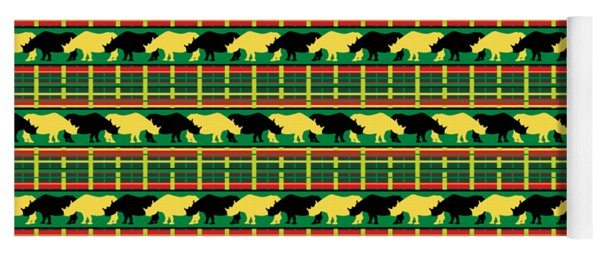Rhinoceros Safari Weave Yoga Mat
