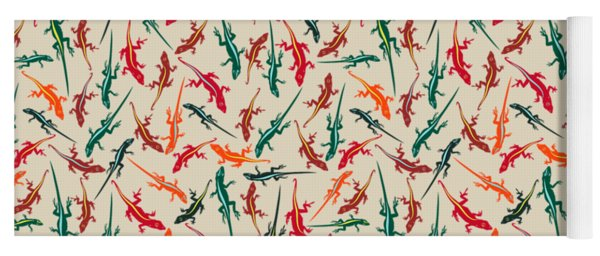 Colorful Anole Lizards Yoga Mat