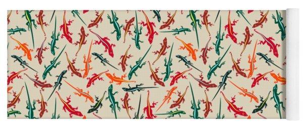Colorful Anole Lizards Yoga Mat