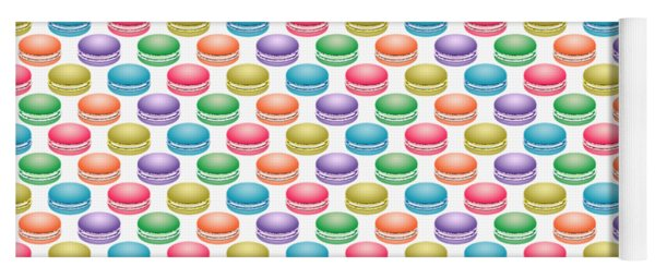Colorful Pop Art Macarons Yoga Mat