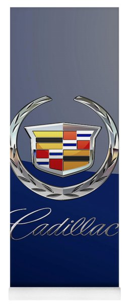Cadillac 3 D  Badge Special Edition On Blue Yoga Mat