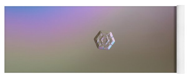 Snowflake Photo - Frozen Hearts Yoga Mat