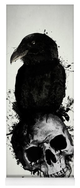 Raven And Skull Yoga Mat
