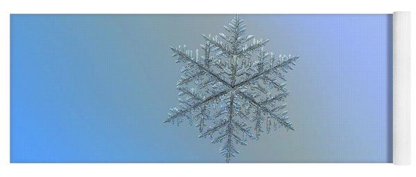 Snowflake Photo - Majestic Crystal Yoga Mat