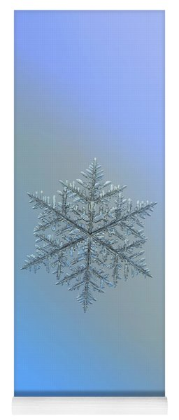 Yoga Mat featuring the photograph Snowflake Photo - Majestic Crystal by Alexey Kljatov