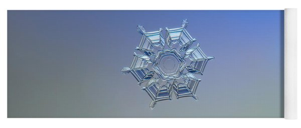 Snowflake Photo - Ice Relief Yoga Mat