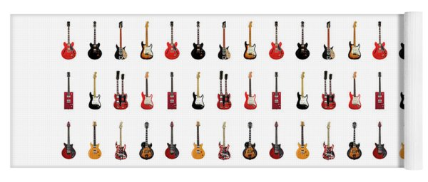 Guitar Icons No1 Yoga Mat